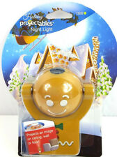 Projectables LED Night Light Gingerbread Holiday Christmas Santa Claus 13332