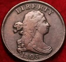 1803 Philadelphia Mint Copper Draped Bust Half Cent