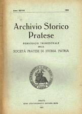 ARCHIVIO STORICO PRATESE ( ANNO XXVIII)