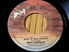 "Bad Company-ROCK 'N' ROLL Fantasy/Crazy CERCHI 7"" in vinile"
