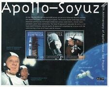 1975 APOLLO-SOYUZ Test Project / NASA Apollo 18 Space Stamp Sheet 2000 Dominica