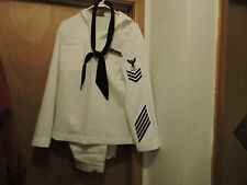 White Navy Uniform-Pants/Shirt/Scarf with Patches and Ribbons-Vietnam Vet