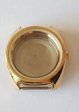 ETA 2789 Gilt Coloured Stainless Steel Watch Case, Glass & Crown  Swiss Made