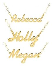 New Solid 9ct 375 Yellow Gold Personalised Name Plate Necklace | CHOOSE ANY NAME