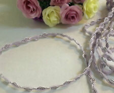 Lavender Rose & Tulle Braid Lace Trim 1 cm #2PE280B