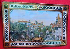 Vintage German Metal Wall Picture ~ Imperial Castle Of Nuremberg ~ Estate Item