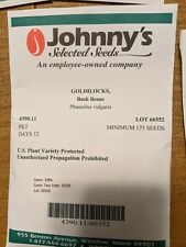Johnny's Selected Seeds Garden Vegetable Seeds Mixed Lot - 20+ packets