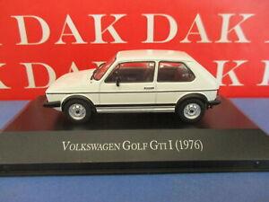 Die cast 1/43 Modellino Auto Volkswagen Golf MKI GTI bianco 1976