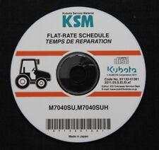 GENUINE KUBOTA M7040SU M7040SUH TRACTOR FLAT RATE SCHEDULE MANUAL CD