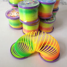 Glow in Dark Walking Rainbow Spring Toy Circle Slinky Magic Circle Stretchy Eyef