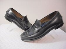 Sebago Shoes Men Penny Loafers Black Leather Slip Ons Casual Made in USA sz 11D