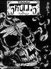 Skulls Design by Horimouja Japanese Skull Tattoo Flash Book Scan JPG Files on CD