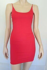 MESHKI NWT Red Fitted Bodycon Mini Dress sz S 10 FREE POST  .C21