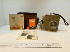 Vintage Camera Eumig c3 8m/m video camera with leather case camcorder