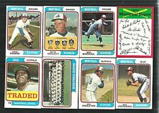 1974 TOPPS MONTREAL EXPOS TEAM SET w TRADED (29 cards)  ~  EXMT-NM  -  *510611