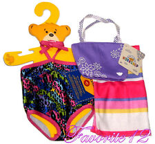 Build a Bear Swimsuit One Piece Bathing Suit Towel Beach Bag Tote Teddy Size