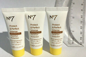 Boots No7 Protect Perfect Intense Facial Sun Protection SPF15 20ml / 30ml SEALED