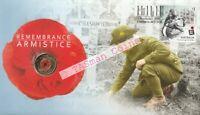 PNC Australia 2018 Remembrance Armistice Centenary RAM $2 Coloured Coin