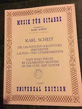 Karl Scheit die leichtesten solostücke luth guitare score partition Universal