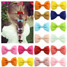 Solid Hair Clip Barrettes Hairpin Kids Girls Candy Color Bowknot Ribbon Bow 2PCS