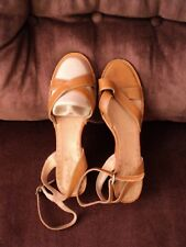 TIMBERLAND Leather Open Toe mid high wedge heel Sandals 9.5 or UK 7.5