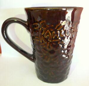 Kahlua Brown Mug Coffee Beans Tall Ceramic Cup Pernod Ricard