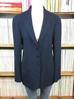 GIORGIO ARMANI COLLEZIONI 44 12 Blazer Jacket Navy Blue Giacca 3 Button Womens