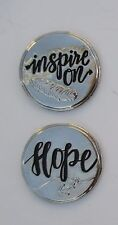 n 2 Hope feather INSPIRE ON POCKET TOKEN one to keep one to share to encourage