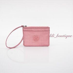 NWT Kipling KI0056 Cindy Card Case Small Wallet Nylon Flourishing Pink Metallic