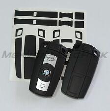 1B_Schlüssel-Dekor Aufkleber für BMW 1er 3er 5er 6er 7er Z4 X1 X5 M schwarz matt