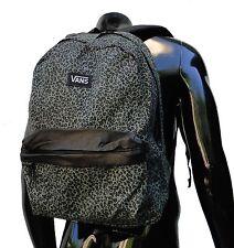 Vans Unisex Classic Green cheetah School Backpack Bookbag Bag