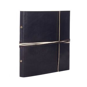 "Coloured Leather Photo Album, Black, 30 Pages to fit 120 6x4"" or 60 7x5"" Photos"