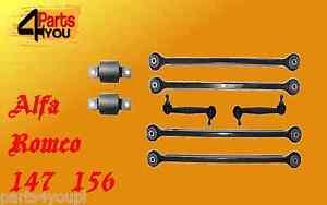 SIDEM ALFA ROMEO 147 156 GT  REAR AXLE SUSPENSION WISHBONE TRAILING ARMS KIT SET