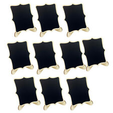 10pcs Mini Wood Rectangle Chalkboards Decorative Blackboard Message Boards