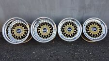 "BBS RS 070/114 15 "" 7 / 11J 4x100 BMW E21 E30 Wide Body RUOTE IN LEGA ORIGINALI RARE"