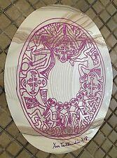 Taillandier Yvon sérigraphie signée sur miroir pvc figuration libre art brut