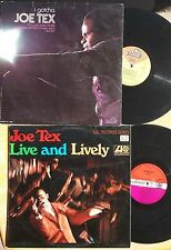 SOUL R&B LP LOT: JOE TEX I Gotcha (Dial) & Live and Lively (UK Atlantic)