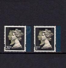 2009 GB sg2955-6 tesoro dell'archivio-Doppia testa machins 20p 1st-Gomma integra, non linguellato