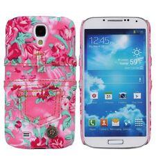 para Samsung Galaxy S4 Cubierta Estuche Funda Protectora Carcasa JEANS FLORES