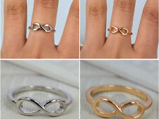 wholesale 50pcs infinity gold tone /silver lots jewelry friendship rings lots