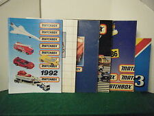 "6 U.K. Matchbox Catalogues ""1983 + 1986 + 1987 + 1988 + 1989 + 1992"""