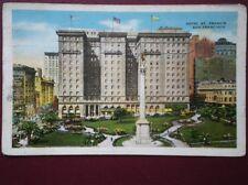 POSTCARD USA CALIFORNIA 1937 LOS ANGELES HOTEL ST FRANCIS