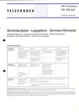 Telefunken Service Manual für TA 750 HiFi