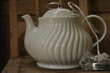 Lampe Porzellan Teekanne Küche Deckenlampe Deckenleuchte E 14 Glasur Weiß Rillen
