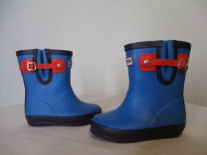 Hunter Kids Toddler Buckle Strap Flat Sole Waterproof Rain Boots  Boys 5