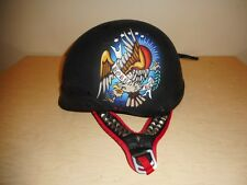"Ed Hardy ""Born Free/Death Before Dishonor"" Flat Black Motorcycle Helmet - Size M"