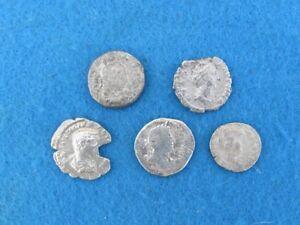SCARCE Lot (5) unknown Rome Republic Silver denarius 2nd to 1st cent. B.C.