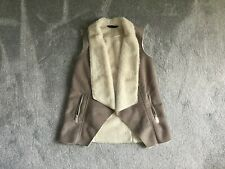 DOROTHY PERKINS LADIES SUEDE STYLE WAISTCOAT SIZE SMALL