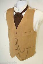 Dandy Desperados Corduroy 4 Pocket Vest Cowboy Steampunk Mens L 42 2651