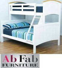 BONDI RANCH SINGLE DOUBLE TIMBER WHITE TRIO BUNK BED